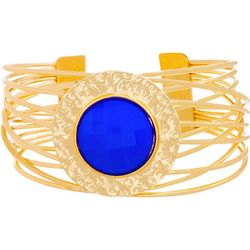 Bay Studio Multi Row Blue Medallion Cuff Bracelet