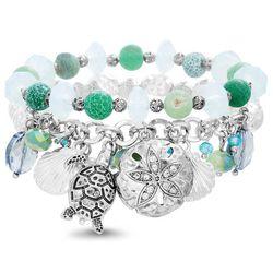 Bay Studio 2-pc. Coastal Sea Turtle Charm Bracelet Set
