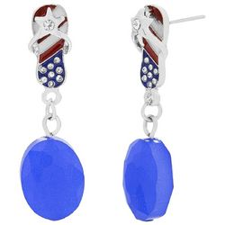 Bay Studio Patriotic Flip Flop Bead Drop Earrings
