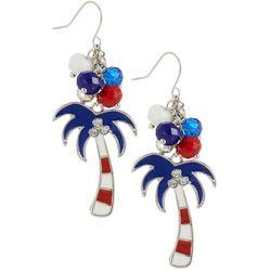 Bay Studio Americana Palm Tree Beaded Earrings