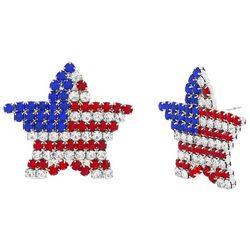 Bay Studio Patriotic Rhinestone Star Earrings