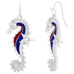Bay Studio Patriotic Seahorse Dangle Earrings