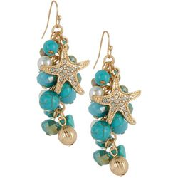 Bay Studio Bead Cluster Starfish Dangle Earrings