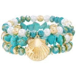 Bay Studio 3-pc. Turquoise Blue Stretch Bracelet Set