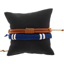 Mens 2-pc. Cord Wrapped Adjustable Bracelet Set