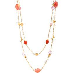Bay Studio Two Row Dolphin Bead & Shell Necklace