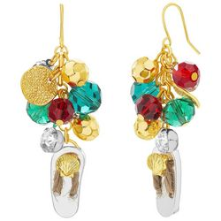 Bay Studio Holiday Bead Cluster Flip Flop Earrings