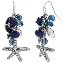Bay Studio Starfish Blue Beaded Cluster Earrings