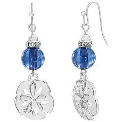 Bay Studio Blue Bead Sand Dollar Drop Earrings