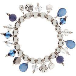 Bay Studio Coastal Blue Beaded Shaky Stretch Bracelet