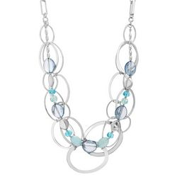 Bay Studio Blue Beaded Multi Row Statement Necklace