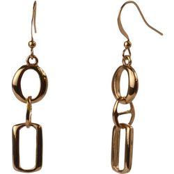MAX STUDIO Gold Tone Double Open Link Earrings