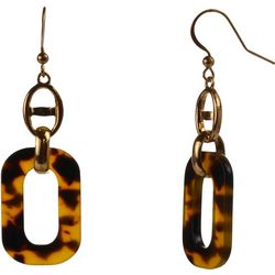 MAX STUDIO Oval Tortoise Link Drop Earrings