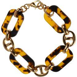 Tortoise Oval Link Bracelet