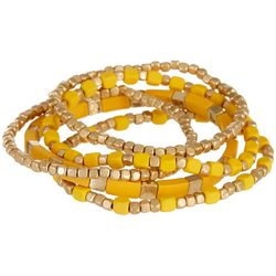 Bay Studio 5 Pc Yellow Enamel Stackable Bracelet