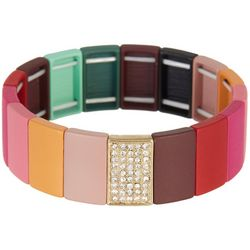 Bay Studio Multi Enamel Tile Stretch Bracelet