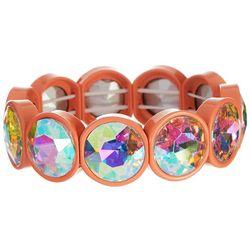 Bay Studio Coral Enamel & Stone Stretch Bracelet