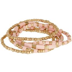 Bay Studio 5 Pc Pink Enamel Stretch Bracelet Set