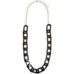 Daisy Fuentes Black Resin Link Statement Necklace