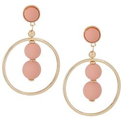 daisy fuentes Peach Bead Ring Drop Earrings