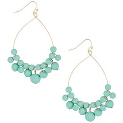 daisy fuentes Multi Mint Beaded Teardrop Earrings
