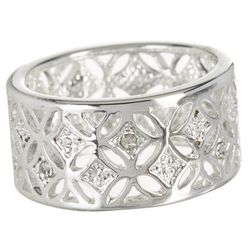 Bay Studio Crystal Wide Open Band Ring