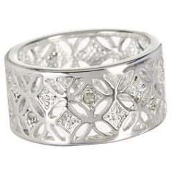 Crystal Wide Open Band Ring
