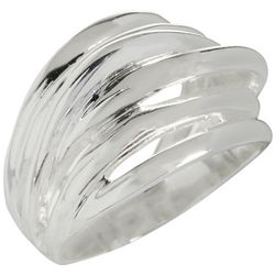 City by City Silver Tone Multi Row Ring