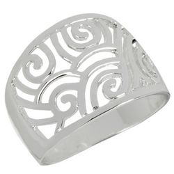 Wide Filigree Cut Out Ring