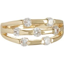 Gold Tone 3 Row Ring