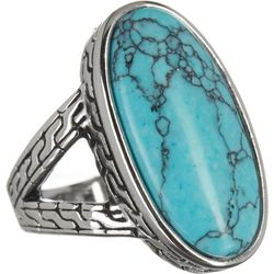 City by City Oval Turquoise Stone Ring