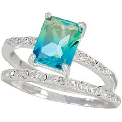 Bay Studio Blue & Green Stone Silver Tone Ring