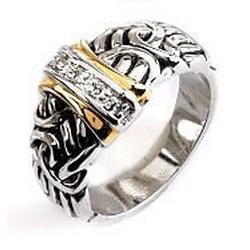 CZ Filigree Band Ring