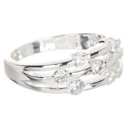 Rhinestone Silver Tone Ring