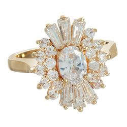 Bay Studio Gold Tone Starburst Rhinestone Ring