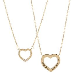You & Me by CBC Mother Daughter 2 Pc Necklace Set