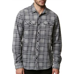 O'Neill Mens Glacier Glen Plaid Flannel Long Sleeve Shirt