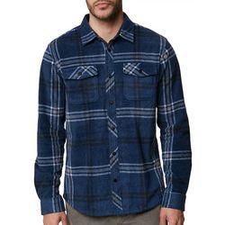 O'Neill Mens Glacier Plaid Flannel Long Sleeve Shirt
