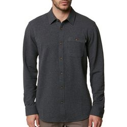O'Neill Mens Anton Knit Button Up Long Sleeve Shirt