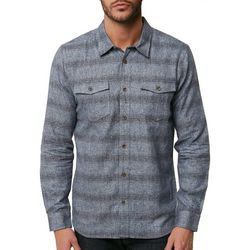 O'Neill Mens Covington Striped Flannel Shirt