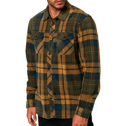 O'Neill Mens Glacier Plaid Superfleece Long Sleeve Shirt