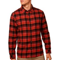 O'Neill Mens Redmond Flannel Plaid Long Sleeve Shirt