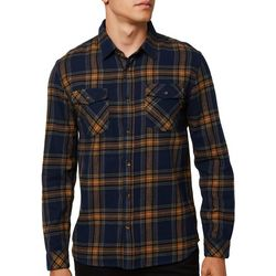 O'Neill Mens Highlands Flannel Plaid Long Sleeve Shirt