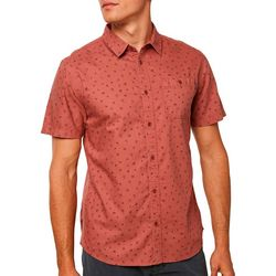 O'Neill Mens Rocksteady Button Down Short Sleeve Shirt