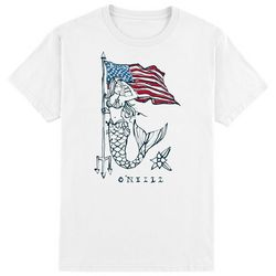 O'Neill Mens Patriotic Mermaid Free Short Sleeve T-Shirt