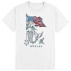 O'Neill Mens Patriotic Mermaid Free Short Sleeve T-Shirt