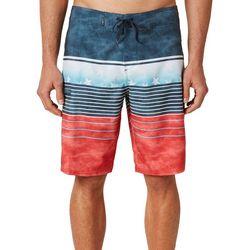 O'Neill Mens Hyperfreak Heist Patriotic Stripe Boardshorts