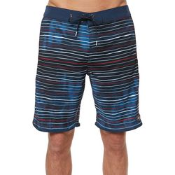 O'Neill Mens Hyperfreak Scallop Stripe Boardshorts