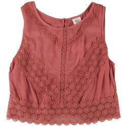 Juniors All-over Crocheted Crop Top