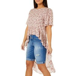 Be Bop Juniors Floral High-Low Top